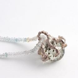 """Octopus"" pendant, 925 silver, prasiolite"