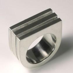 Ring, 925- Silber, gerillt
