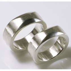 Wedding rings, 925 silver, quadrature