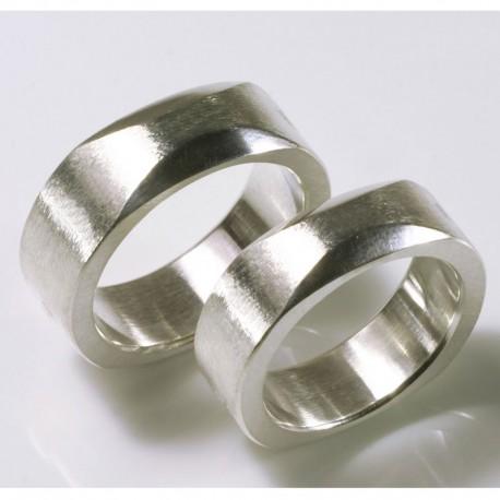 Trauringe, 925- Silber, Quadratur