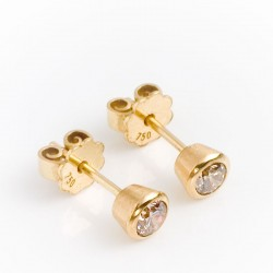 Ohrstecker, 750- Gold, Brillanten