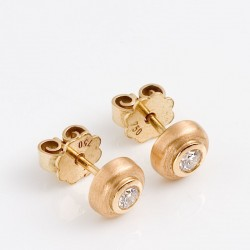 Stud earrings, 750 gold, brilliant-cut diamonds