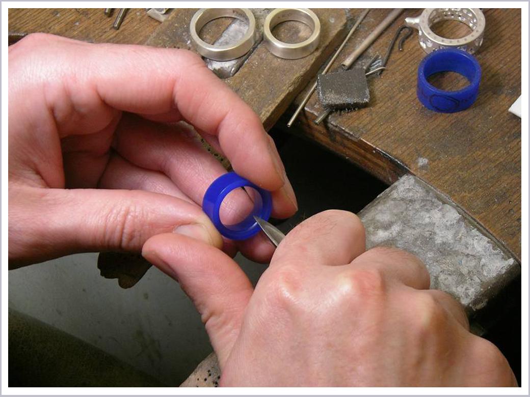 Ringmodelle werden angefertigt